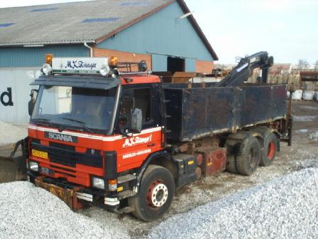 Timpris lastbil med kran